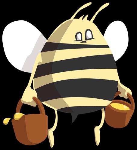 455x500 97 Honey Bee Clip Art Free Public Domain Vectors