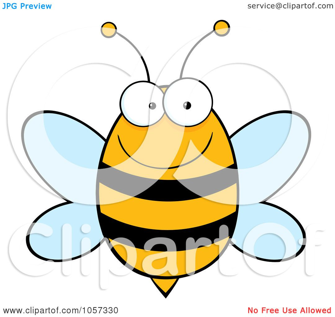 1080x1024 Royalty Free Vector Clip Art Illustration Of A Happy Bee By Hit