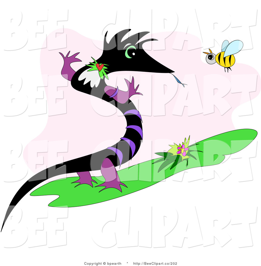 1024x1044 Vector Clip Art Of A Black And Purple Dragon Or Lizard Standing Up