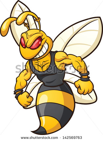 342x470 Fighting Hornet Clipart