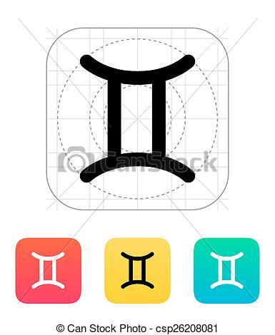 385x470 Gemini Zodiac Icon. Gemini Zodiac Icon Vector