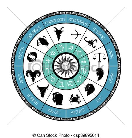 450x470 Signs Of The Zodiac Circle Astrological Astronomy Future Vector