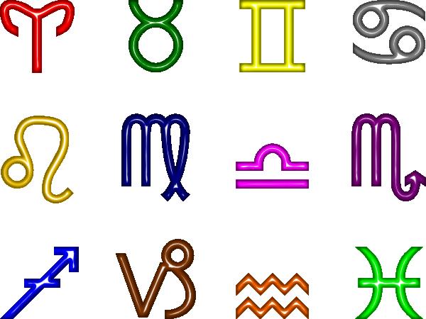 600x450 Zodiac Symbols Clip Art