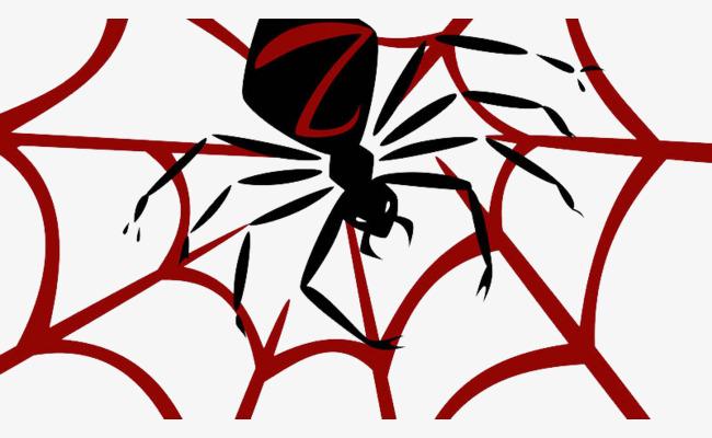 650x400 Spider, Black Spider, Horror Adventures, Red Spider Web Png Image