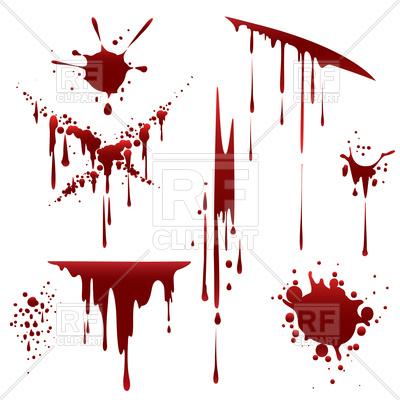 400x400 Bloody Horror Scruffy Splatter Royalty Free Vector Clip Art Image