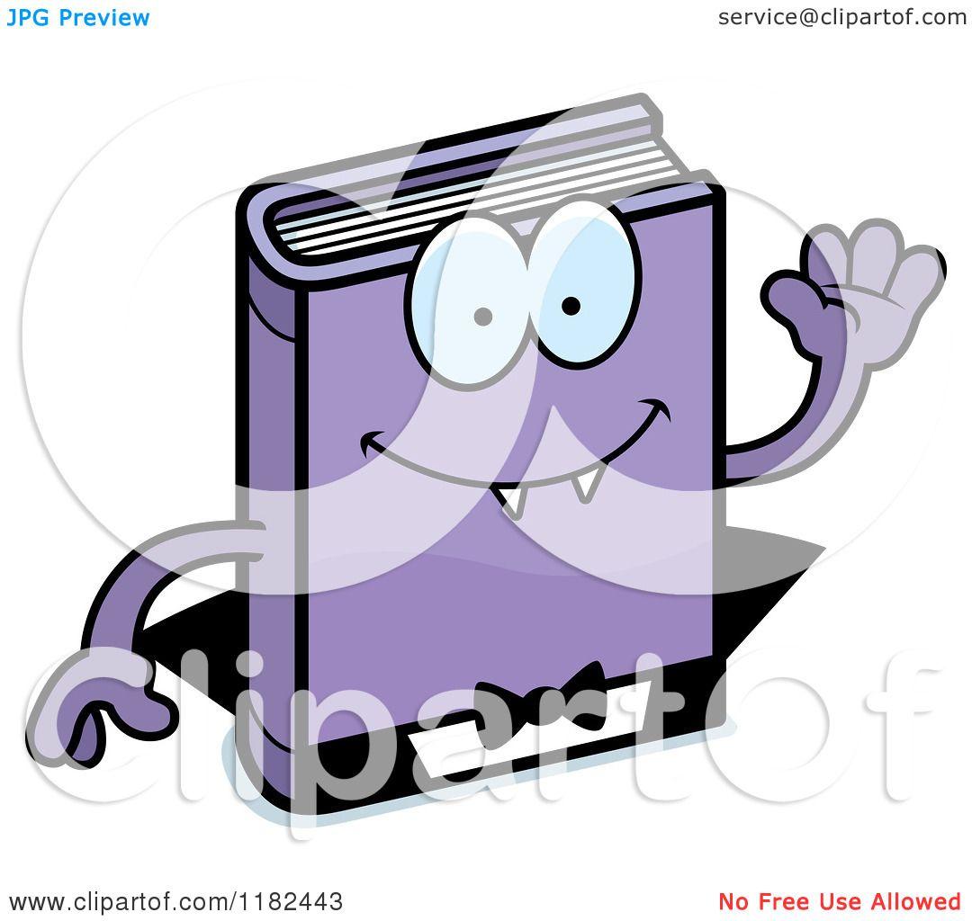 1080x1024 Cartoon Of A Waving Horror Vampire Book Mascot