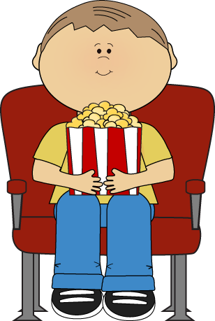 308x459 Movie Theater Clipart