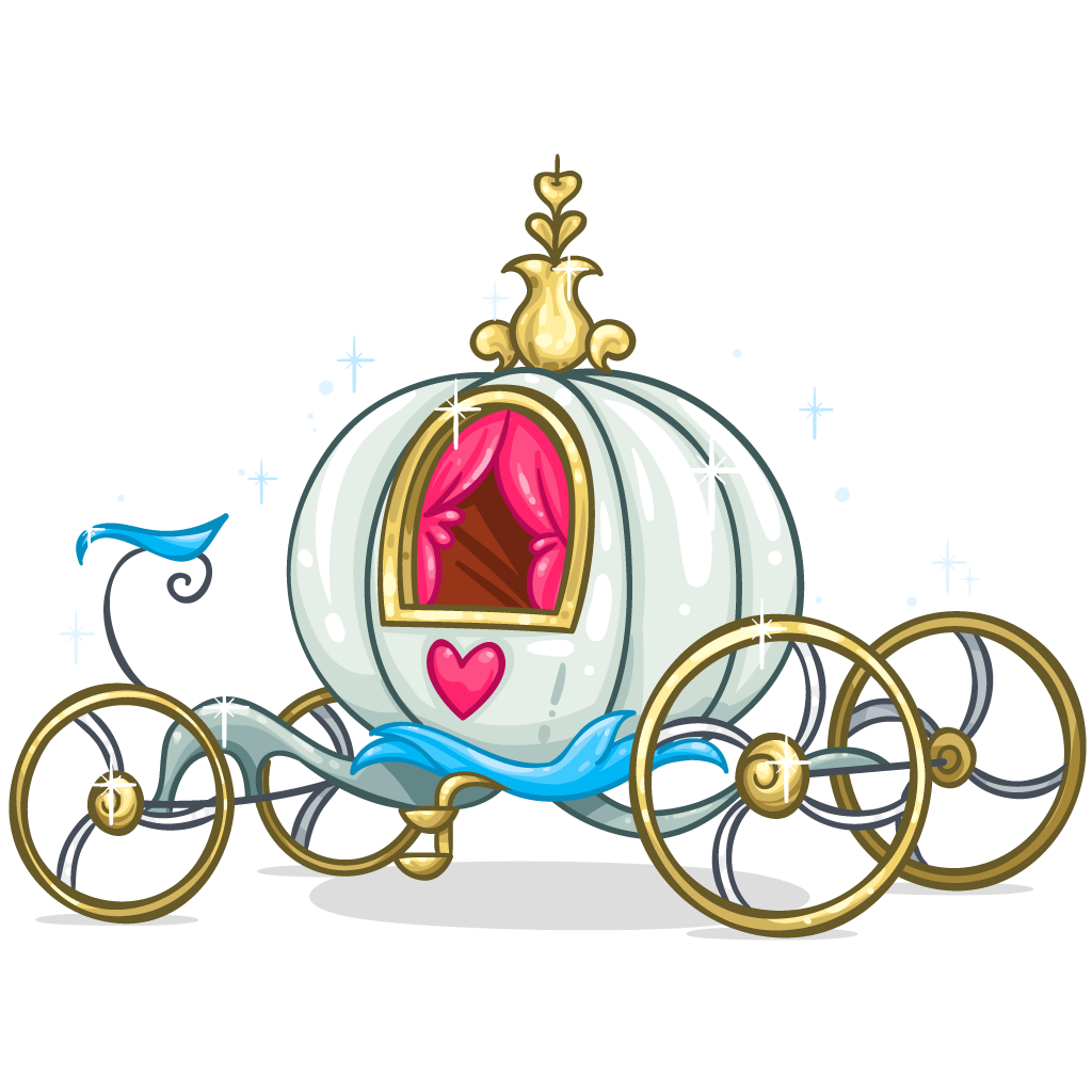 1024x1024 Cinderella Carriage Horse And Buggy Clip Art