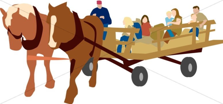776x363 Hayride And Horses Church Activity Clipart