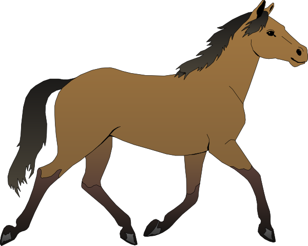 600x481 Mare Horse Clipart