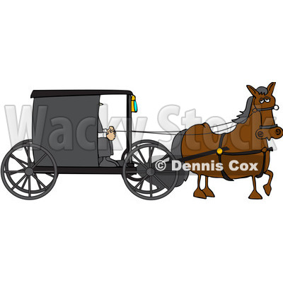 400x400 Royalty Free (Rf) Clipart Illustration Of Gray Horse Pulling