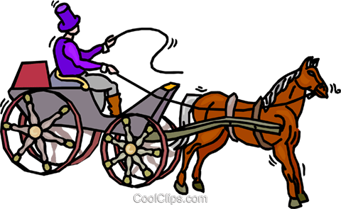 480x295 Person Driving A Horse And Buggy Royalty Free Vector Clip Art