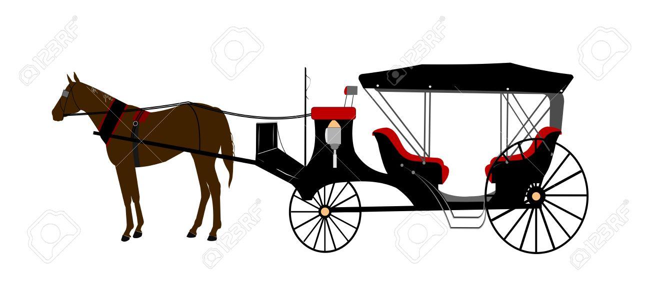1300x609 Horse Drawn Carriage Clipart