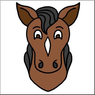 304x304 Horse Face Clipart Amp Horse Face Clip Art Images
