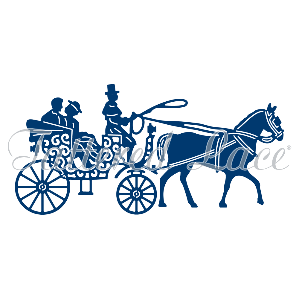 1000x1000 Horse And Carriage (D883) Tattered Lace