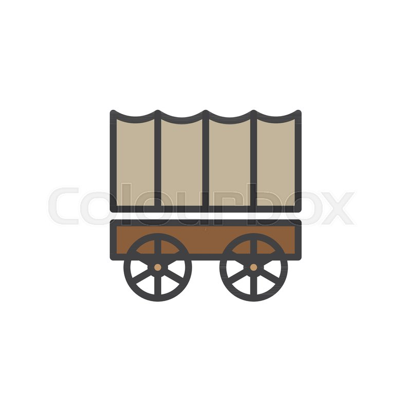 800x800 Horse Carriage Wagon Filled Outline Icon, Line Vector Sign, Linear