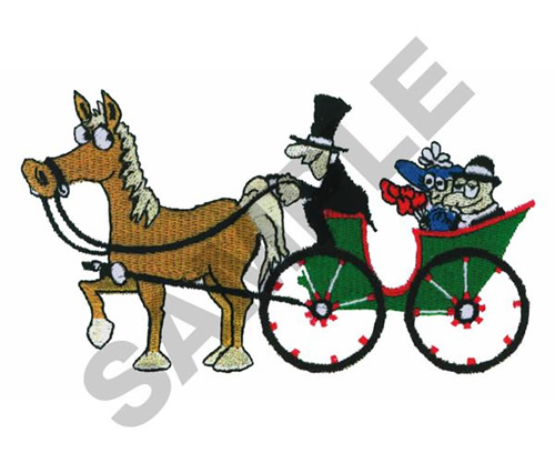 500x417 Horses Embroidery Design Animated Horse Carriage Ride From Great