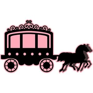 300x300 Princess Carriage With Horses Princess Carriage, Silhouette