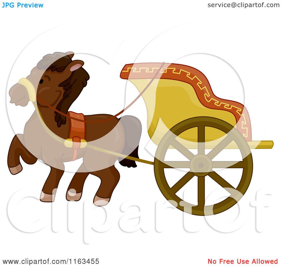 1080x1024 Cartoon Of An Ancient Horse Drawn Chariot