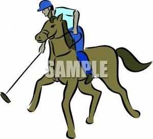 300x273 Cartoon Of A Man Playing Polo