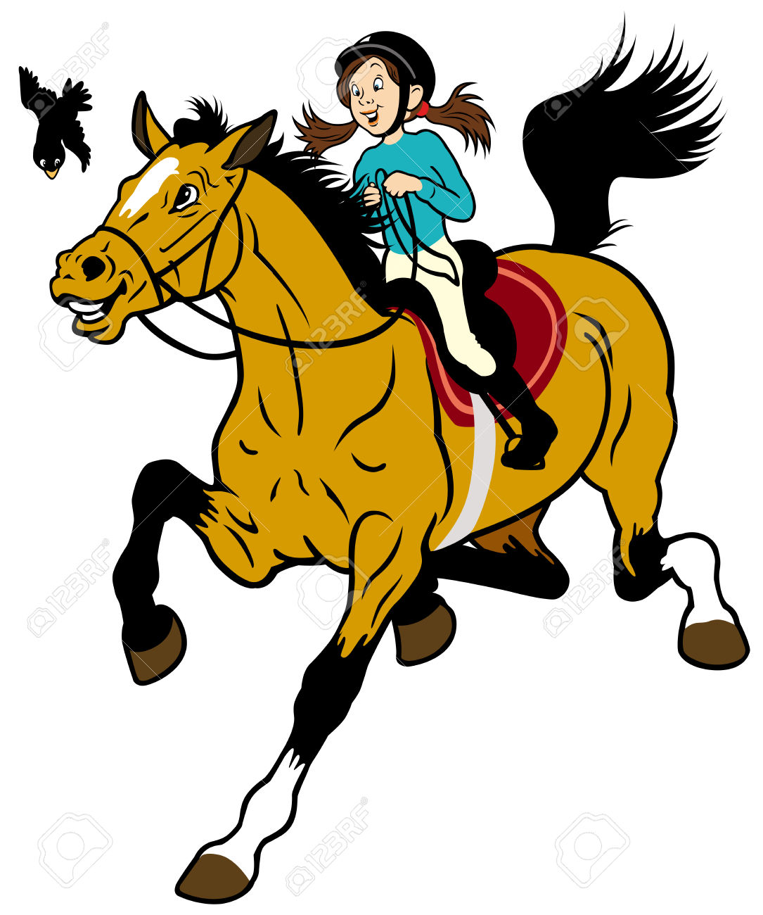 1085x1300 Collection Of Girl Riding Horse Clipart High Quality, Free