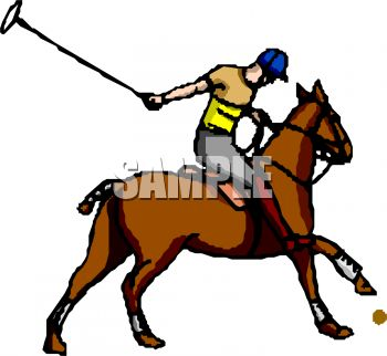 350x322 Polo Player On His Horse