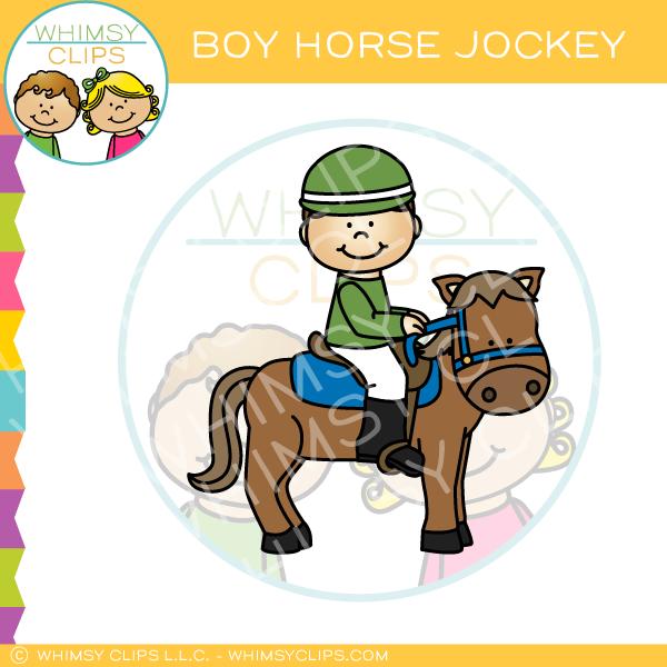 600x600 Boy Horse Jockey Clip Art , Images Amp Illustrations Whimsy Clips