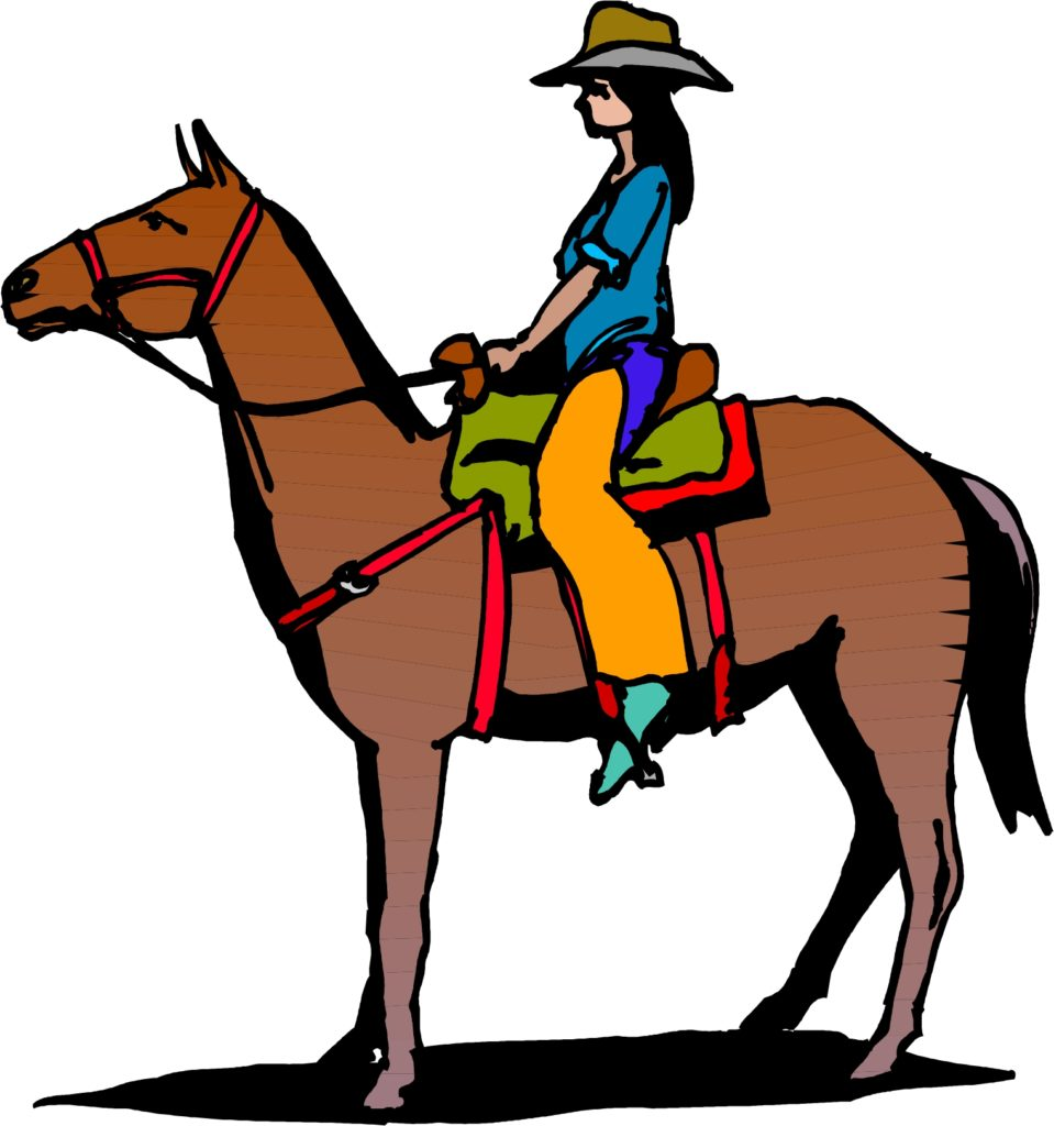 Horse And Rider Clipart