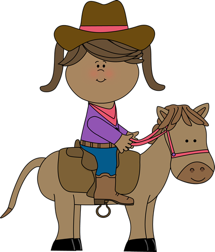 426x500 Cowgirl Riding A Horse Clip Art
