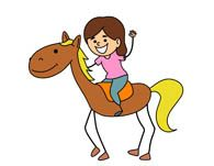 195x151 Horse Rider Silhouettes, Girl, Equestrian, Clipart, Graphics