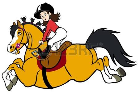 450x316 Horse Riding Clipart Lady