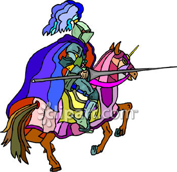 350x339 Knight On A Horse With A Jousting Lance