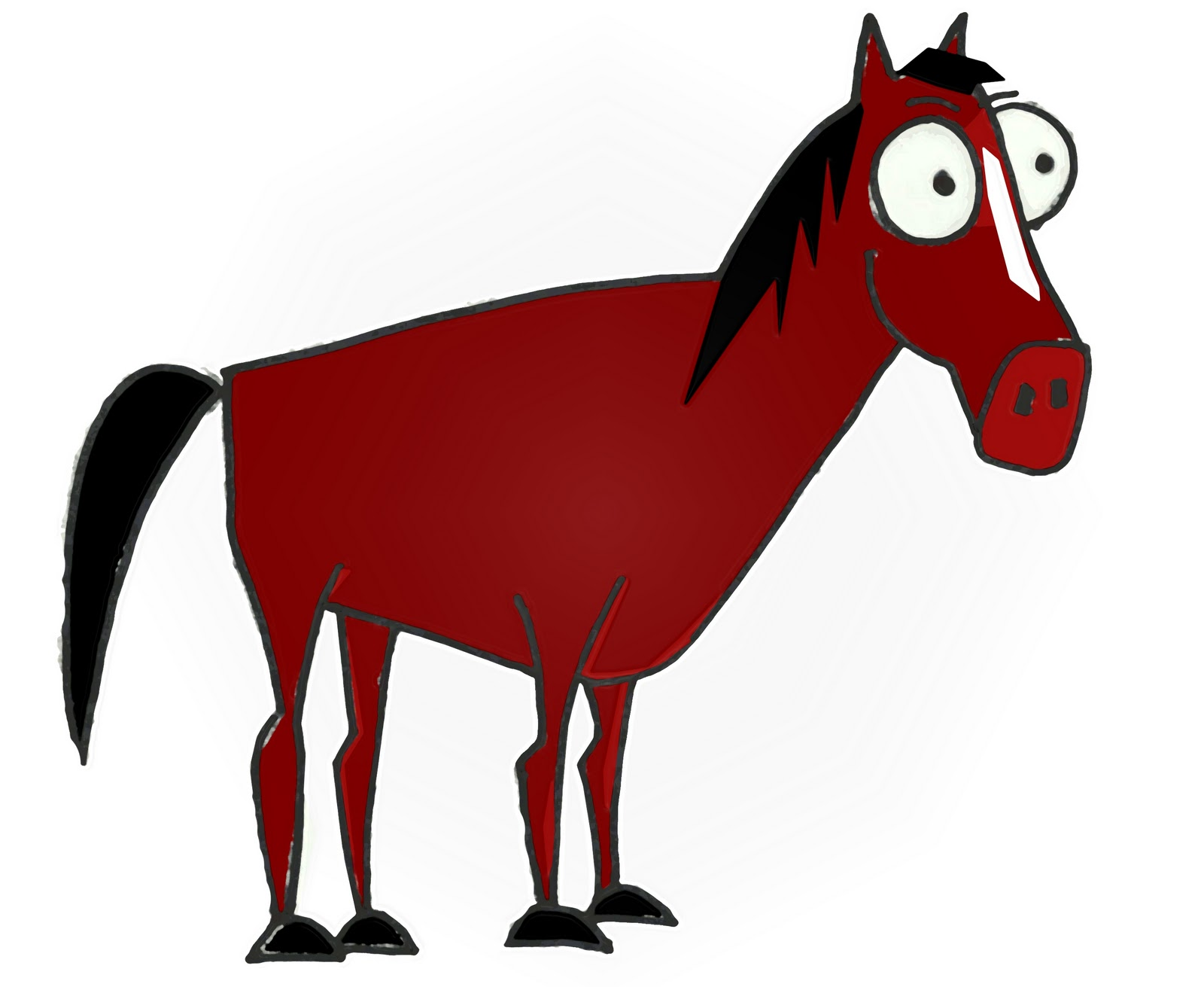 1600x1311 Attractive Cartoon Horse Pictures 8 Cute Isolated White Background
