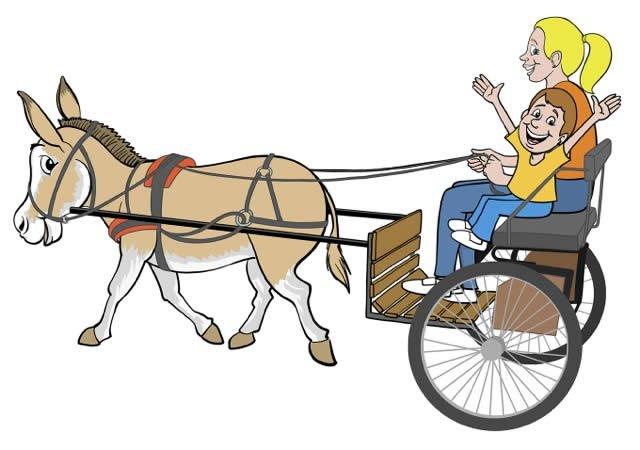 640x450 Cart Clipart Donkey Cart