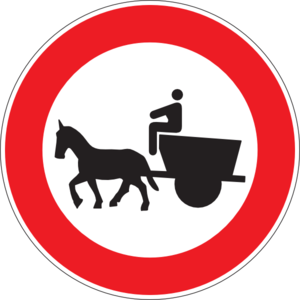 300x300 No Entry For Horse Drawn Vehicles Clip Art