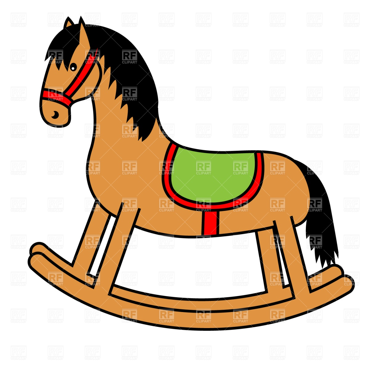 1200x1200 Brown Clipart Rocking Horse