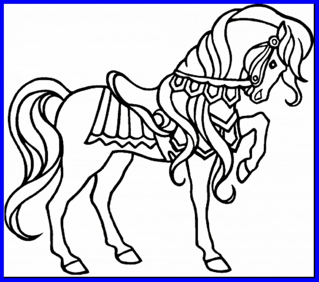 1024x906 Carousel Coloring Pages Valid Shocking Brilliant Printable Horse
