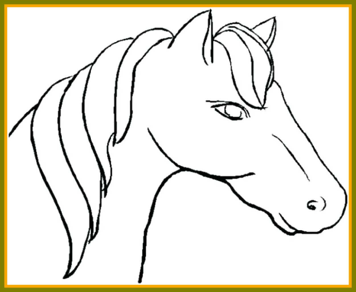 1250x1025 Fascinating Cute Rearing Horse In Coloring Page For Line Art Pict