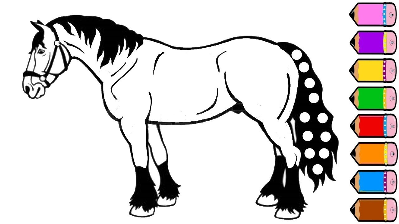 1280x720 Horse Coloring Pages