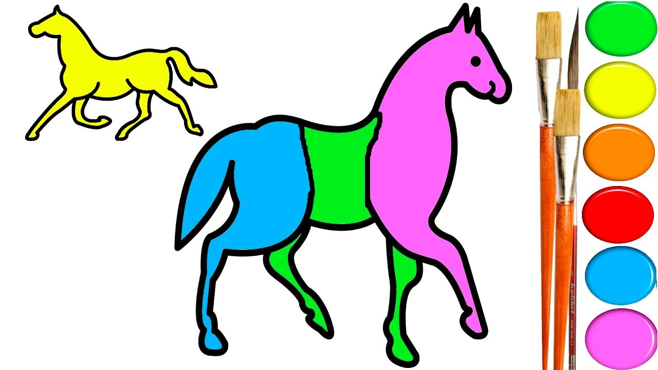 1280x720 Horse Coloring Pages For Kids