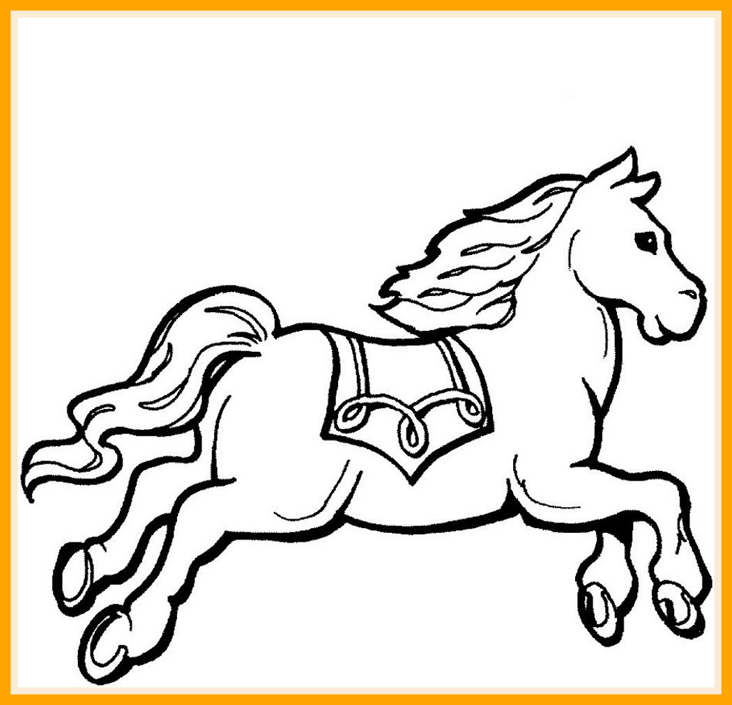 1050x1012 Incredible Horse Color Loving Printable Pic For Coloring Page