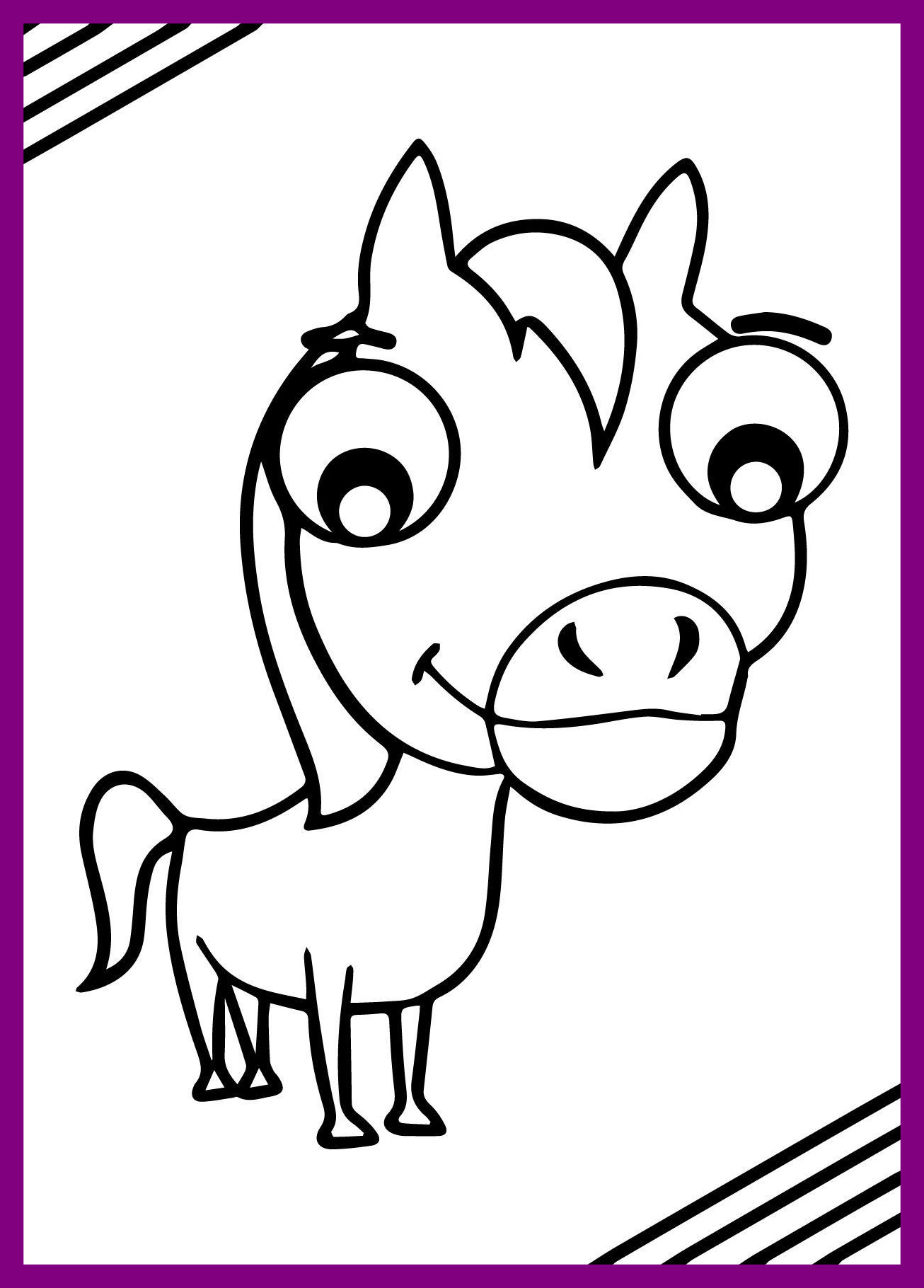 1306x1820 Amazing Pony Clipart Outline Pencil And In Color For Cartoon Horse