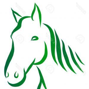 300x300 Contour Of Arabian Horse Running Trot Vector Clipart Lazttweet