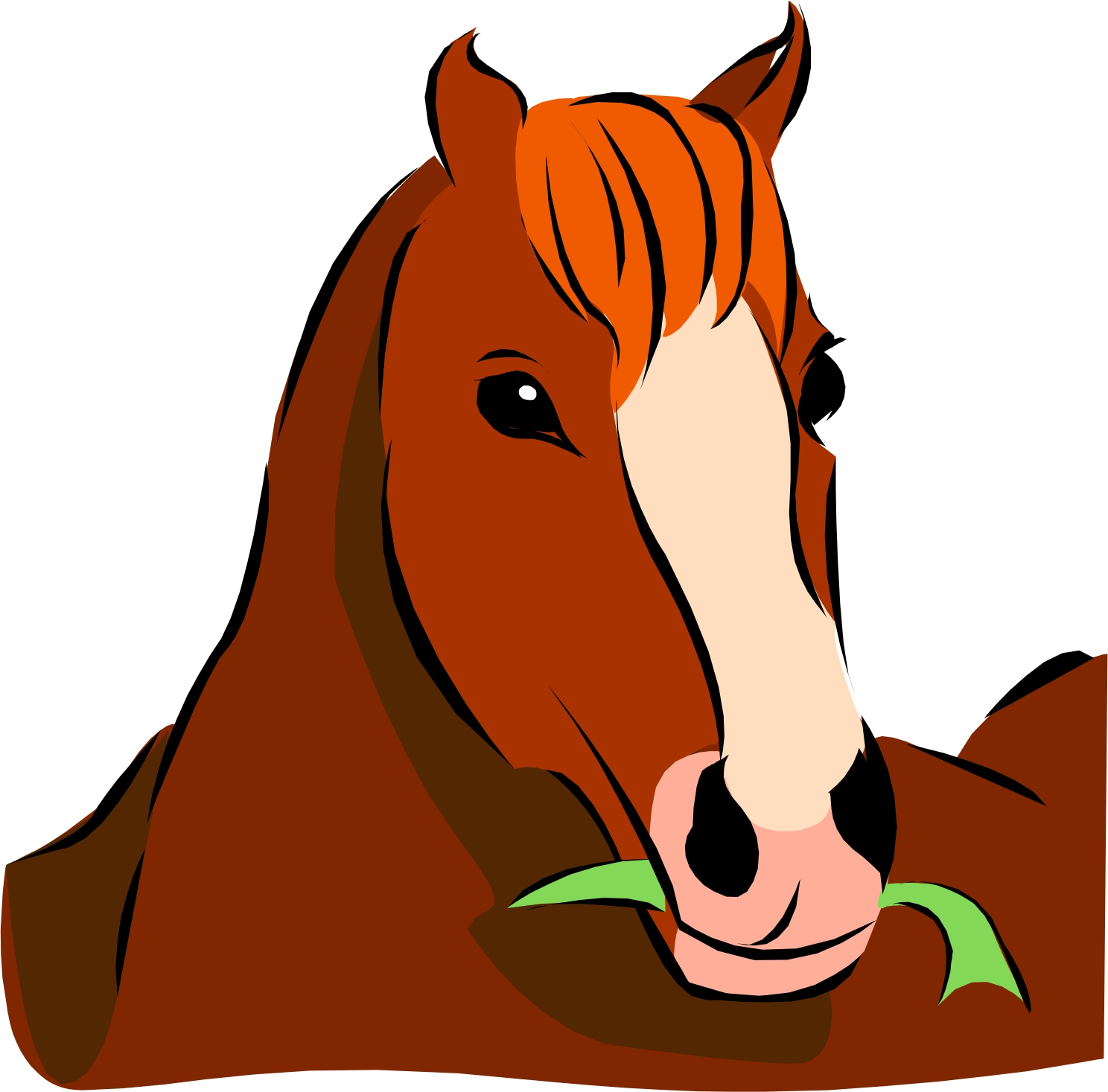 1488x1467 Horse Head Clipart Craft Projects, Animals Clipart