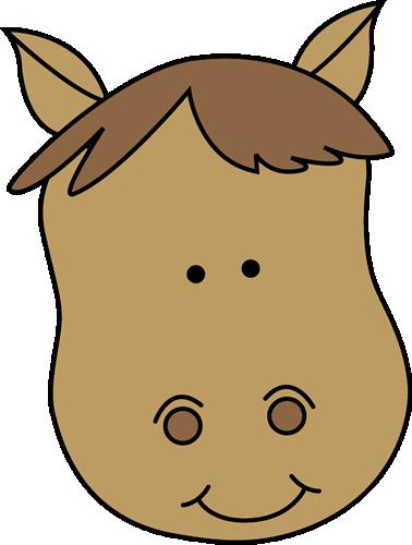 378x500 Horse Head Clip Art Image