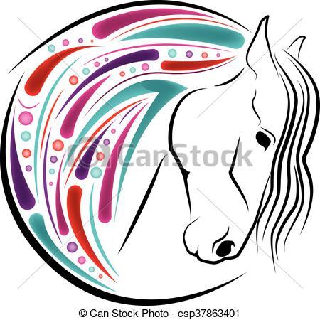 450x450 Horse Head Color