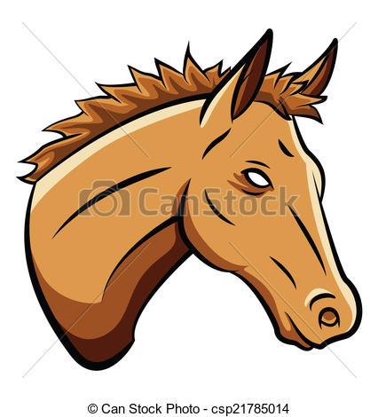 426x470 Horse Head Vector Clip Art