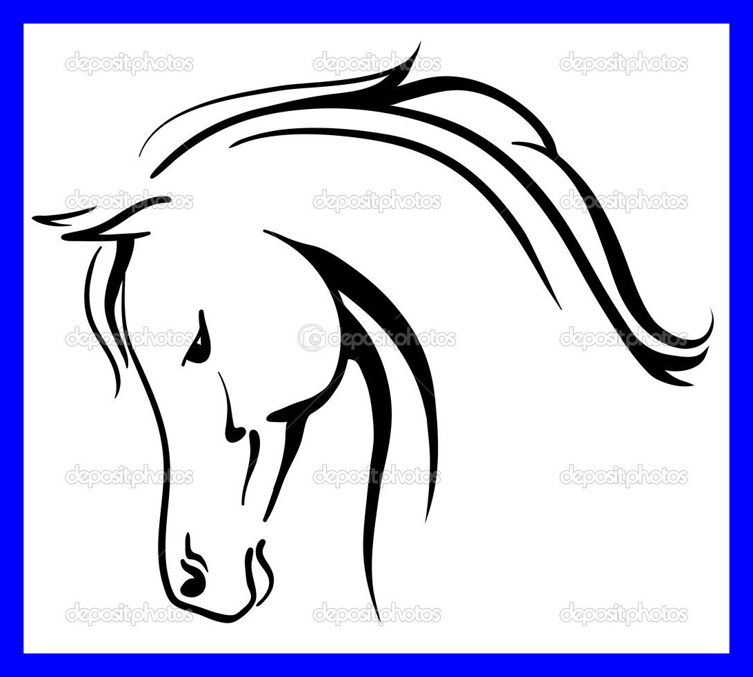 1092x982 Inspiring Horse Head Outline Clip Art Clipart Panda For Drawing