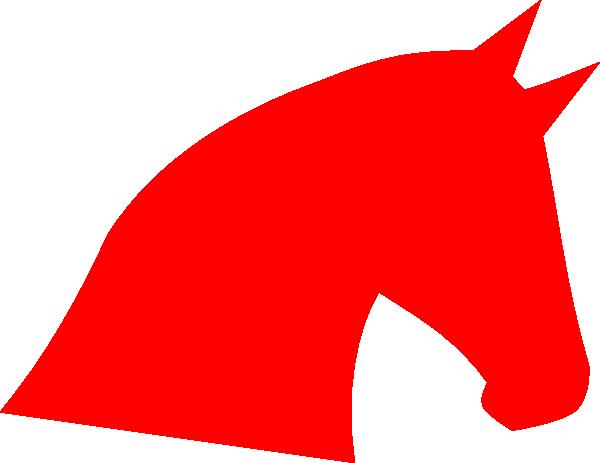 600x463 Red Horse Head Clip Art