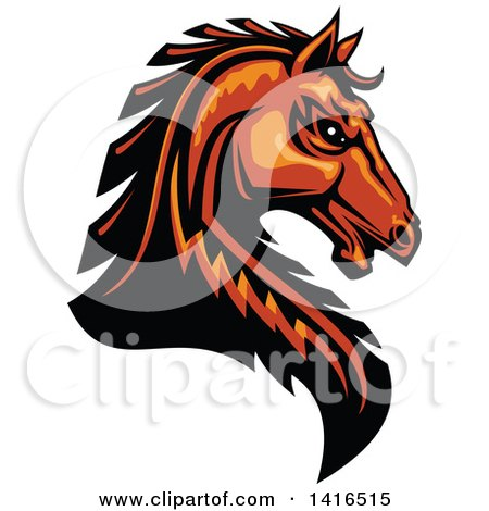 450x470 Royalty Free (Rf) Brown Horse Clipart, Illustrations, Vector